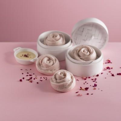 Steamed Rose Floret Bun