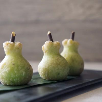 """The """"Pears"""" (Cream Soup Stuffed Dumplings)"""