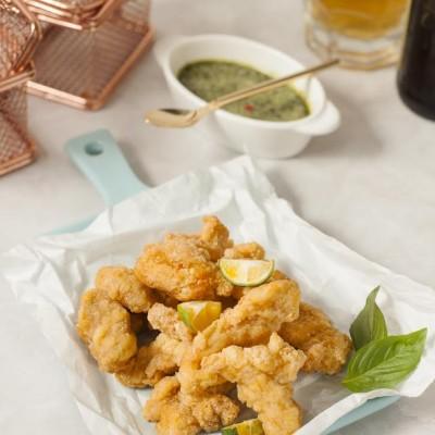 Deep fried chicken w home made thai sauce